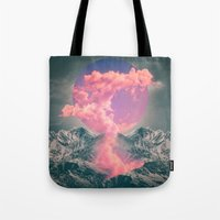 soul Tote Bags featuring Ruptured Soul  by soaring anchor designs