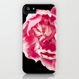 Pink Tulip Flower On A Black Background #decor #society6 #homedecor iPhone Case