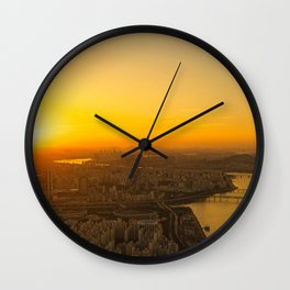 Sunset in Seoul Wall Clock