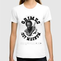 rick grimes T-shirts featuring Rick Grimes & .357 Magnum by SwanniePhotoArt