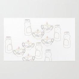 Honey bear and sugar bowl Rug