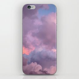 Pink and Lavender Clouds iPhone Skin