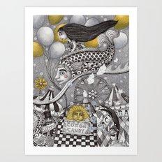 Roller Coaster Ride Art Print