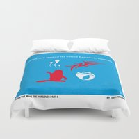 mercedes Duvet Covers featuring No145 My HANGOVER PART 2 minimal movie poster by Chungkong