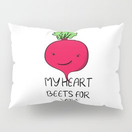 Kawaii vegetable beet for valentines day or your love Pillow Sham
