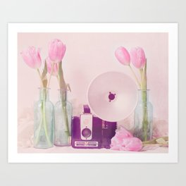 Tulips Smiling for the Camera Art Print