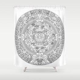 Aztec Cthulhu Vector Shower Curtain