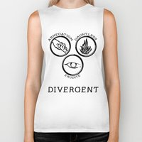 divergent Biker Tanks featuring Divergent (Black) by Lunil