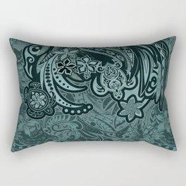 Hawaiian - Samoan - Polynesian Slate Tribal Threads Rectangular Pillow