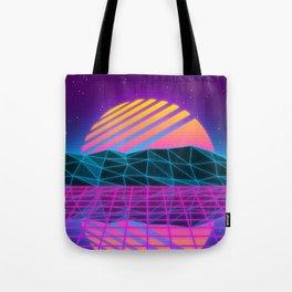 Vaporwave Sunset Tote Bag