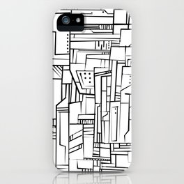 Electropattern(B&W) iPhone Case