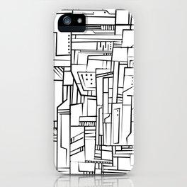 Electropattern(B&W) iPhone Case