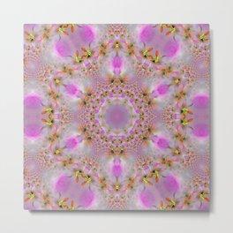 Pink Ornate Mandala Metal Print