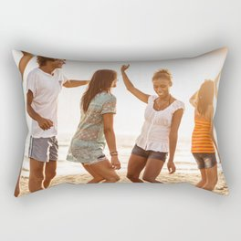 beach party on summer Rectangular Pillow