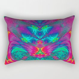 Synectic Seity - Abstract Psychedelic Art Rectangular Pillow