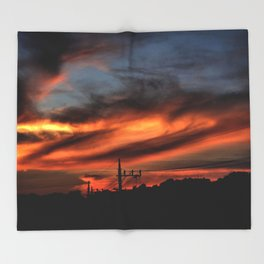 Smoke and Fire Throw Blanket