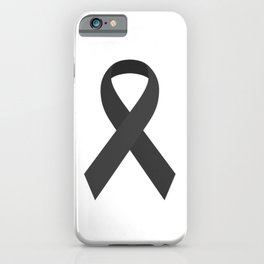 Black Awareness Support Ribbon iPhone Case