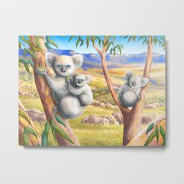 Koala and Joey Metal Print