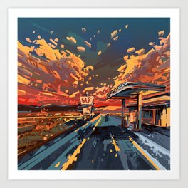 american landscape 7 Art Print