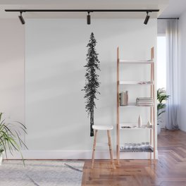 Alone in the forest - a solitary, towering Douglas Fir tree Wall Mural