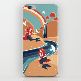 mermaid falls iPhone Skin