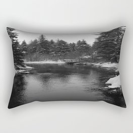 Up The Black Stream Rectangular Pillow