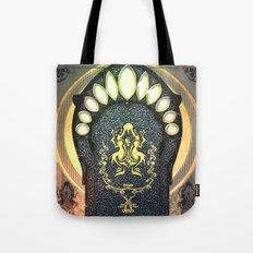 Frog with the ying and yang sign Tote Bag