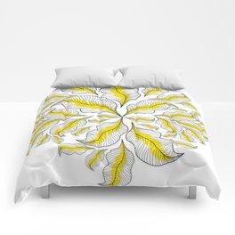 yellow---line Comforters