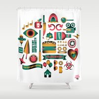 movies Shower Curtains featuring Summer Movies by RevengeLover