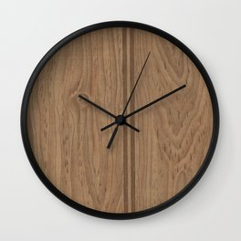 Vintage Wood Panel Wall Clock