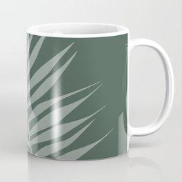 Green tropical palm tree leaf Coffee Mug