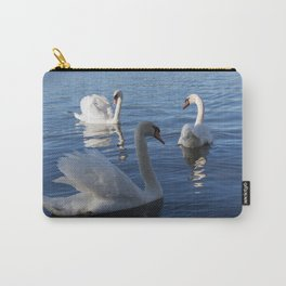 Three Swans On Lake Varese Carry-All Pouch