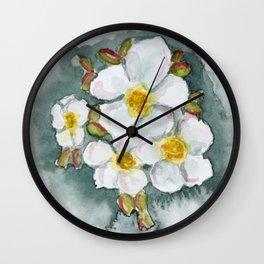 Watercolour Wildflower Wall Clock