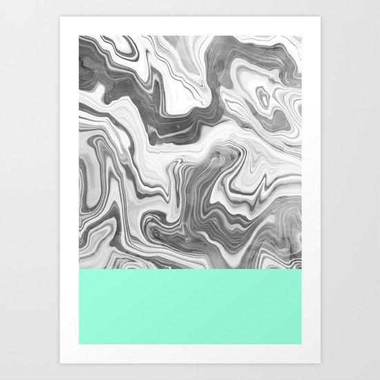 Liquid Sea Art Print