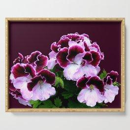 Pink Purple Flower Power Serving Tray