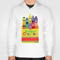 sesame street Hoodies featuring Color Me Sesame by Mike Boon