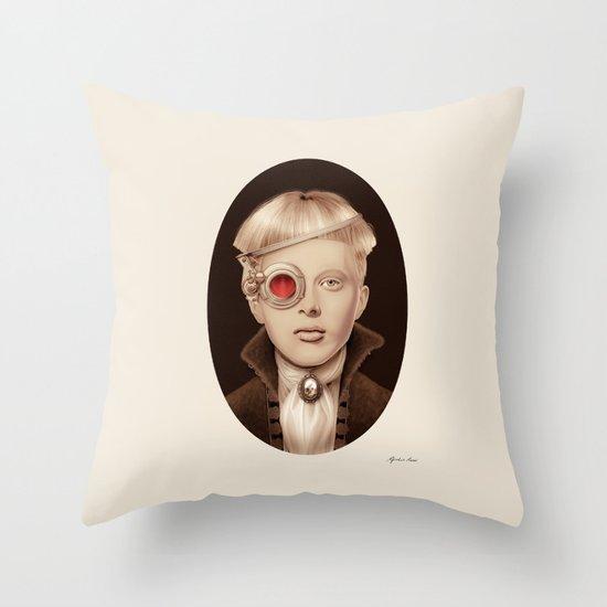 """Steampunk"" Throw Pillow"