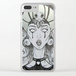 Priestess Nocturna Clear iPhone Case