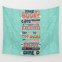 risa rodil Wall Tapestries featuring Read Books by Risa Rodil