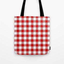 Red Vichy Tote Bag