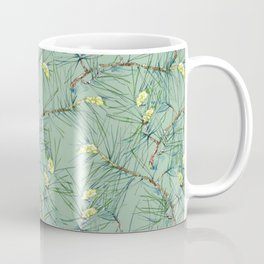Pattern of pine branches and needles Coffee Mug