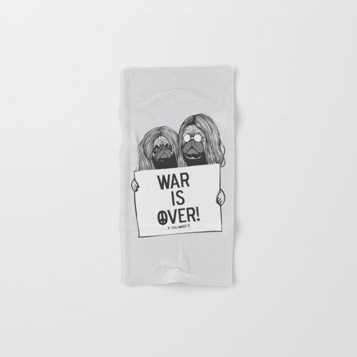 War is over Pugs Hand & Bath Towel