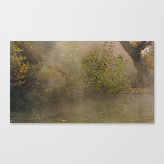 morning fog Canvas Print