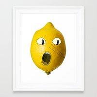 lemongrab Framed Art Prints featuring Lemongrab! by Al's Visions