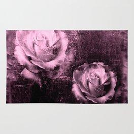 Vintage Rose Illustration Rug