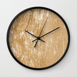 Seamless Golden Spring Acrylic Textures Wall Clock
