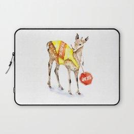 Traffic Controller Deer in High Visibility Vest Laptop Sleeve