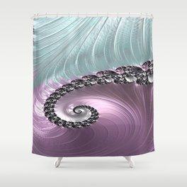 Pink Swirl Shower Curtain