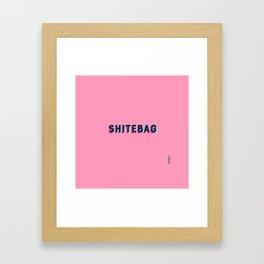 Shitebag Framed Art Print