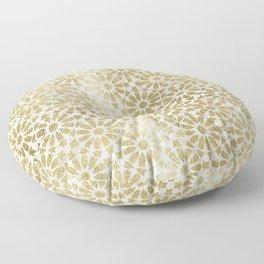 Hara Tiles Gold Floor Pillow